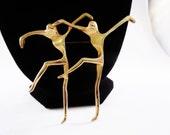 Vintage Abstract Minimalist Dancers Brooch/Pin