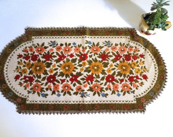 Embroidered Chenille Tapestry Table Runner - Made in Belgium