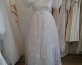 Dahlia 1960's vintage tea length wedding dress