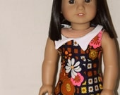 1960s Psychedelic Floral Mod Dress for American Girl Dolls
