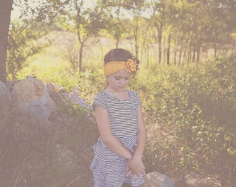 Mustard Nora Flower Headband