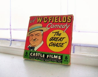 8mm Film WC Fields The Great Chase Castle Films Vintage Movie Comedy