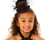 READY TO SHIP: Midnight Magic Mini Top Hat Headband - Black - Fits toddler to adult - Cutie Patootie Designz