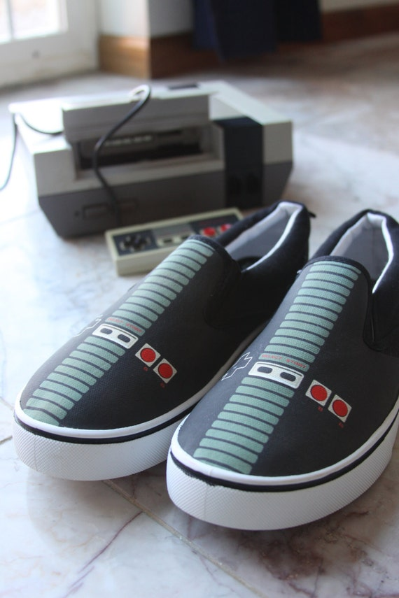 Custom NES Controller Canvas Shoes