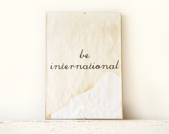 Wall Decor, Poster, Sign - be international