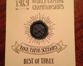 Rock, Paper, Scissors certificate (World Gaming series) - Scissors