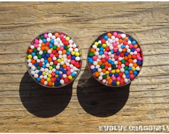 00g, 10mm - READY TO SHIP - Real Sprinkle Candy Plugs