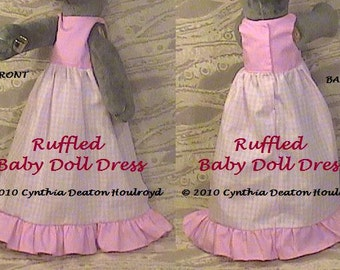 "PART #2 Option F - Ruffled Baby Doll DRESS - CDH ""Three Blind Mice..."""
