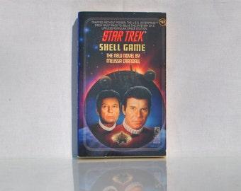 Vintage Paperback Book Star Trek The Original Series Shell Game #63 1993  - Paramount - Pocket Books - Enterprise - Romulans - Kirk - Spock