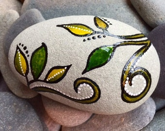 Painted rock/ Growing stronger / reach / Sandi Pike Foundas / painted stone / beach stone from Cape Cod / art rocks