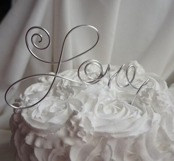 Items Similar To Modern Love Wedding Cake Topper 6 Inch On Etsy