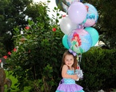 Ariel Inspired Dress - The Little Mermaid - Birthday Dress - Mermaid Birthday Party - Pageant Dress - Outfit of Choice