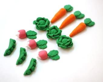 Fondant vegetable - fondant garden - fondant rabbit - fondant bunny - vegetable cake - edible vegetables - garden party - bunny party