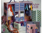 Fashion Doll Dressing Room Plastic Canvas Pattern American School of Needlework 3093