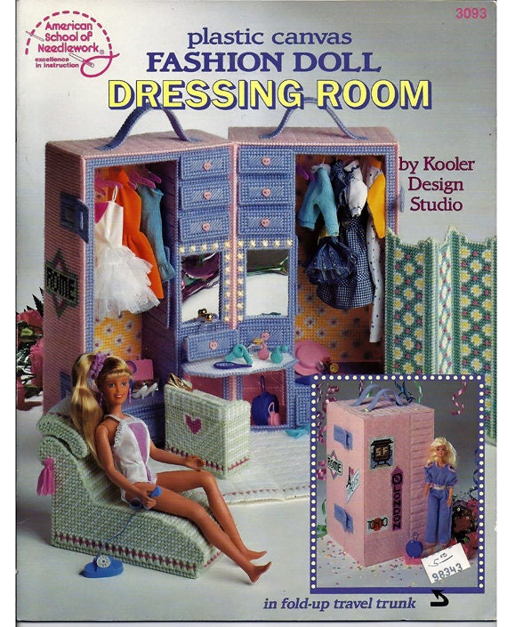 Fashion doll dressing room plastic canvas pattern american school of