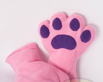 Pink Paws, Fleece, Claws, Accessory