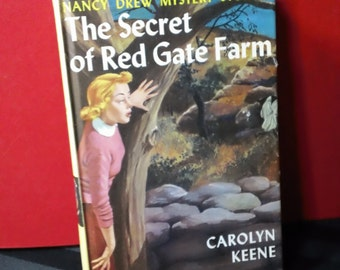 The Secret of Red Gate Farm by Carolyn Keene vintage hardcover Nancy Drew Mystery Stories Teen Detective Novel