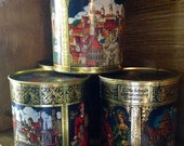 Collection of 5 Vintage Gingerbread Tins from Nuremberg, Germany