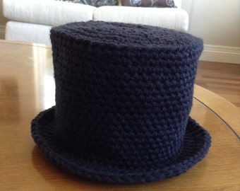 Crocheted Top Hat Toilet Paper Cover