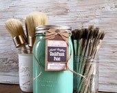 Handmade ChalkFinish Paint in Turquoise, Painted Furniture, Shabby Chic Furniture, Chalk Painted Furniture, Painted Mason Jars, Wax Brushes