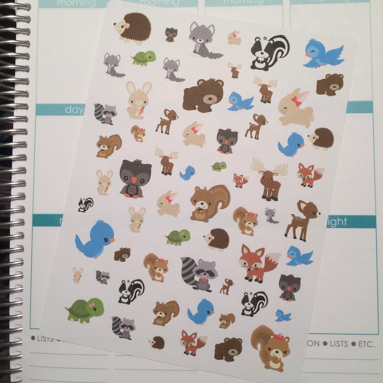 40 50 off forest friends planner stickers forest animal stickers woodland forest planner. Black Bedroom Furniture Sets. Home Design Ideas