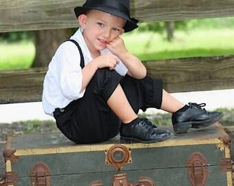 Black sz. 1-3T or 4-6yrs Knicker Pants for boys, black knickers for boys, ringbearer knicker pants for boys Sz. 1-3T or 4-6yrs little boys