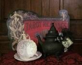 Witches Cast Iron Teapot ~ Apothecary, witchery, ritual, altar, incense, pentacle, tea, pentagram, witches, teas, teacup, tea set, coven