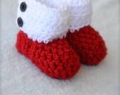 Crochet Santa Baby Boots