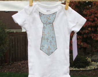 Baptism or church bodysuit - Sizes NB to 24M - short or long sleeves