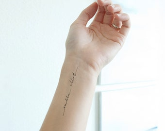 Custom Handwritten Calligraphy Tattoo Design