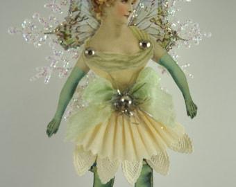 Victoria Paper Doll Christmas Fairy Ornament