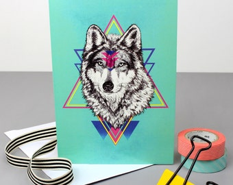 Wild Wolf Greetings Card