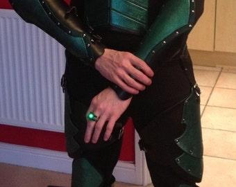 Leather Armor Green Lantern Set