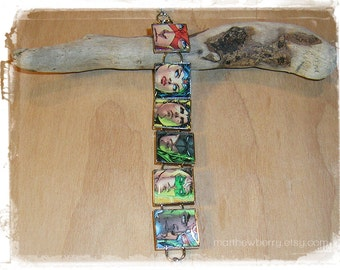 Justice League of America Bracelet - Comic Book Bracelet - Comic Book Jewelry