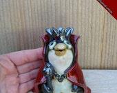 Penguin, Stoneware Clay Penguin, Penguin Sculpture, handmade King Penguin