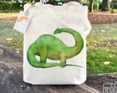 Diplodocus Dinosaur Fair Trade Tote Bag, Reusable Shopper Bag, Cotton Tote, Shopping Bag, Eco Tote Bag