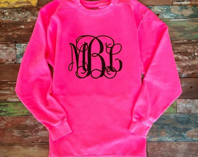 Monogrammed Sweatshirt, Glitter Monogram Sweatshirts, Monogrammed gifts, Crewneck Sweatshirt, Gift for her, Gifts under 20