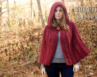 Free Crochet Pattern Child s Hooded Cape : Hooded cape Etsy