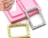 Rectangular Dollhouse Photo Frame 28mm Cupcake Deco Sugar Paste Food Safe Fimo Polymer Clay 400L* BEST QUALITY