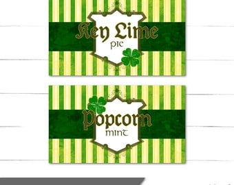 St Patrick's Day Candy Buffet Labels - Dessert Table - Food Labels - DIY Labels - Luck O' The Irish Collection - Instant Download