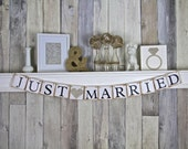 Just Married Banner, Wedding Decoration, Just Married Sign, Wedding Banner