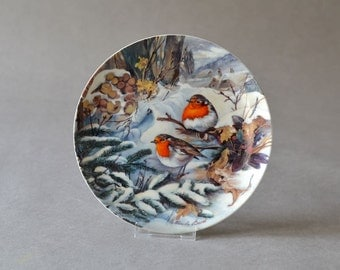 Vintage German Wall Plate robin bird porcelain plate Hutschenreuther wall decor Ursula Band