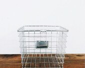 Vintage Style Wire Locker Storage Basket Set -CHROME