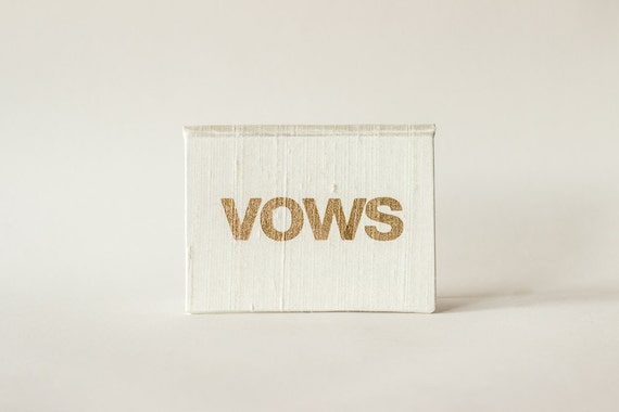 Pocket Sized Wedding Vows Keepsake - Modern Vows Silk Folio Vow Keepsake - Wedding Vow Holder