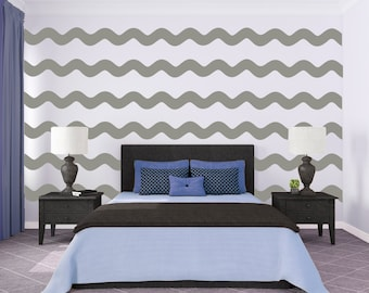 Wavy Chevron Wall Pattern   Wall Decal Custom Vinyl Art Stickers For  Nurseries, Bedrooms,