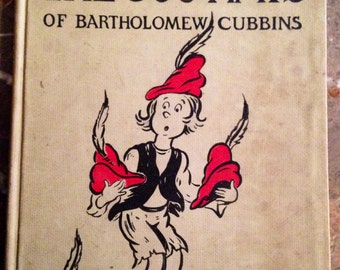 Vintage book, The 500 Hats of Bartholomew Cubbins, Dr. Seuss collectible collectable, antique, children's book, child's book Bonnie Oaks