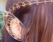 Man's Copper Wire Elfin Headpiece, Crown, Renaissance, Medieval, Large Elven Ears,