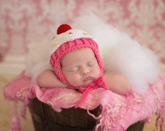 Cupcake Hat, Cupcake, Crochet Cupcake, Crochet Cupcake Hat