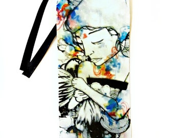 Bookmark - Psychedelic art - Art Bookmark - Artist Bookmark - Watercolor art - Watercolor Bookmark - Book Lover Gift