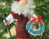 Santa Claus Christmas Ornament, Clothespin - Scottish Highlander Santa